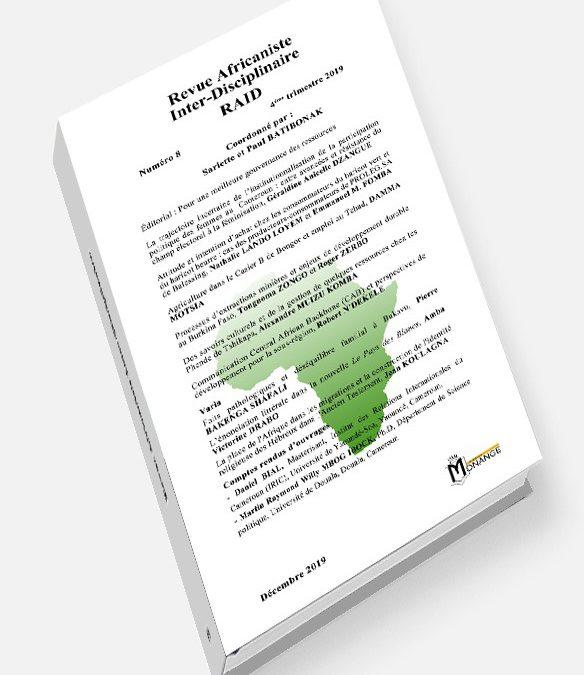 Revue Africaniste Inter-Disciplinaire RAID 8
